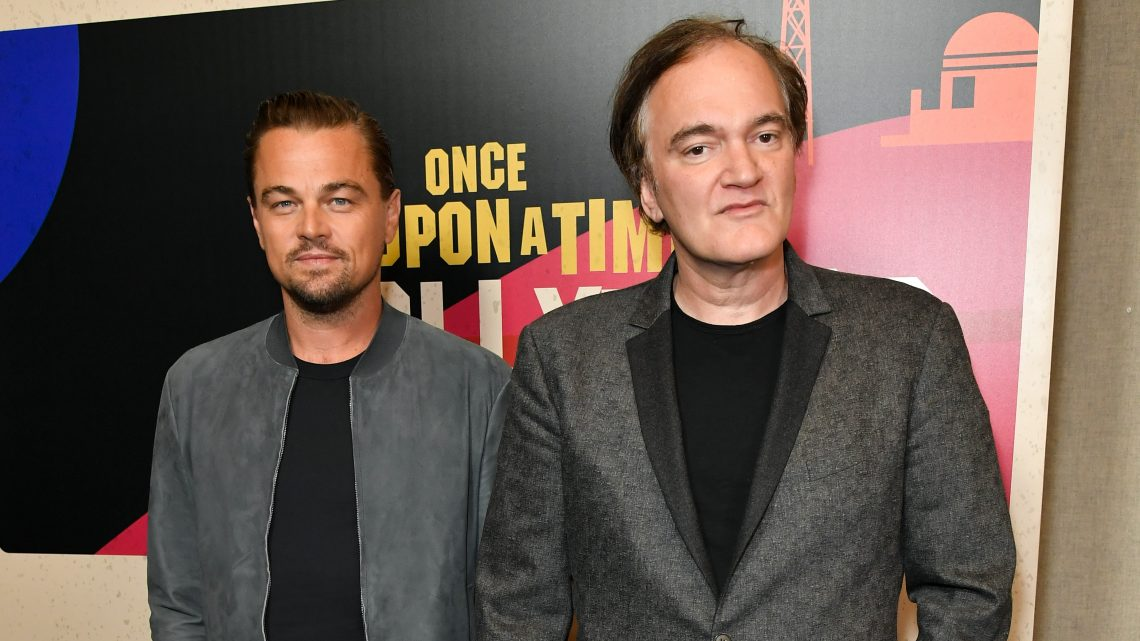 Mandatory Credit: Photo by Rob Latour/REX/Shutterstock (9640551c) Leonardo DiCaprio and Quentin Tarantino 'Once Upon a Time in Hollywood' presentation, Arrivals, CinemaCon, Las Vegas, USA - 23 Apr 2018 Sony Pictures Entertainment presentation
