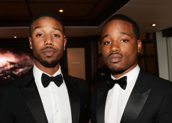 CANNES, FRANCE - MAY 16:  Actor Michael B. Jordan (L) and director Ryan Coogler attend the Fruitvale Station Cannes screening dinner held aboard the Harle Yacht on May 16, 2013 in Cannes, France.  (Photo by Michael Buckner/Getty Images for The Weinstein Company)