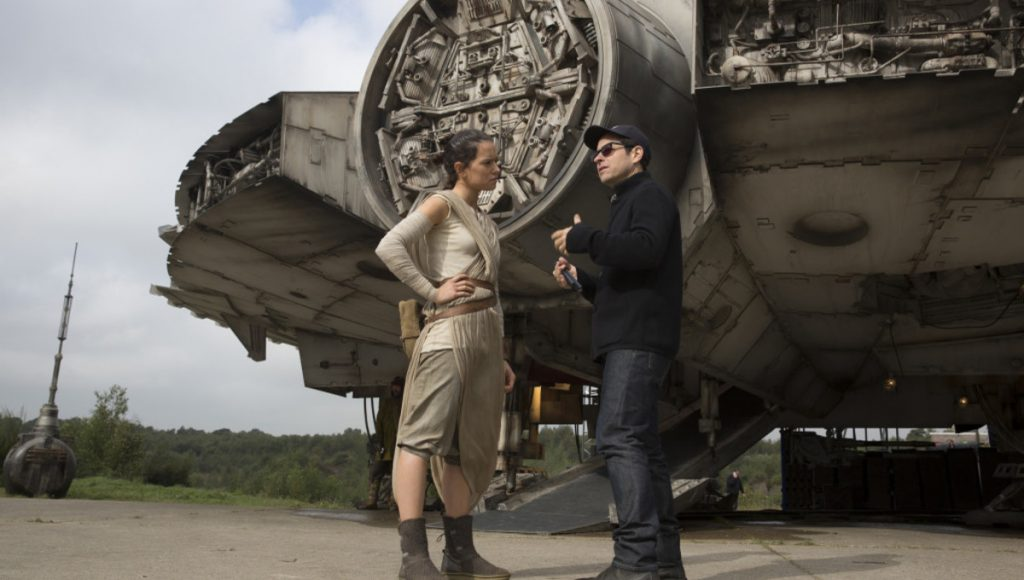 The Force Awakens J.J. Abrams and Daisy Ridley