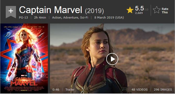 Captain Marvel IMDb
